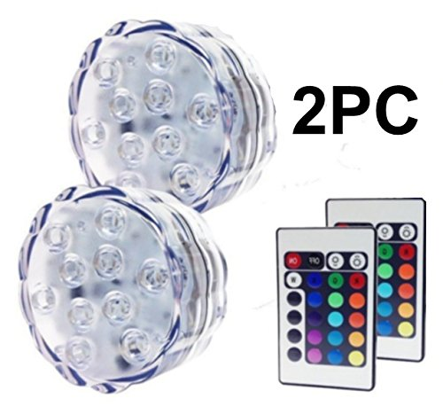 Led Submersible Light Disc Rgb in US - 6