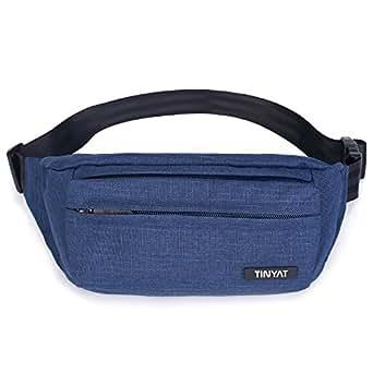TINYAT Belt Bum Bag Travel Hiking Outdoor Sport Fanny Pack Waist Bag Holiday Money Hip Pouch