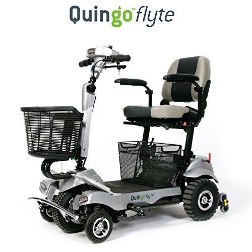 Quingo Flyte Mobility Scooter   Self Loading Into Car   Patented 5 Wheel Anti Tip Stability System   Safer Than 4 Wheel Scooters   Turns Like A 3 Wheel Scooter