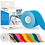 Proworks Kinesiology Tape | 5m Roll of Elastic Muscle Support Tape for Exercise, Sports & Injury Recovery - Light Blue