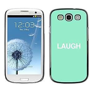 Risa Mint texto minimalista inspirada- Metal de aluminio y de plástico duro Caja del teléfono - Negro - Samsung Galaxy S3