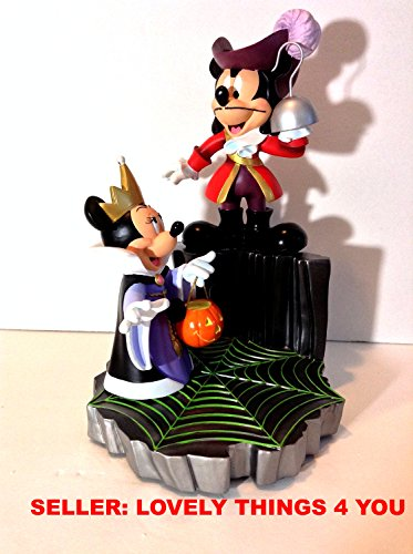 DISNEY PARKS Villains Mickey Mouse as Captain Hook (Peter Pan) Minnie Mouse as Evil Queen (Snow White) Medium Big Fig Figure CODY REYNOLDS