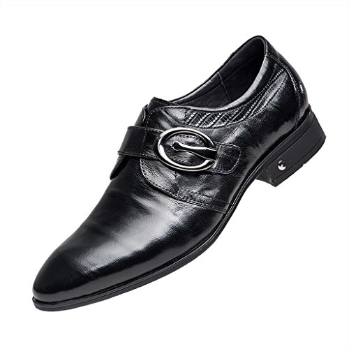 ZRO Men's Black Oxford Formal Business Dress Shoes with Buckle 8 M US by ZRO