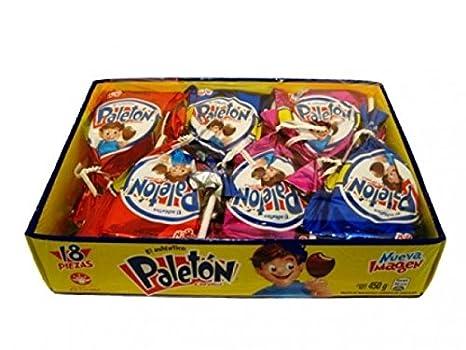 Amazon.com : Authentic Sabores imported Mexican - Paleton Corona Chocolate Marshmallow - Paletón Coronado Cubierto con Chocolate 18 ct. and 1 FREE Mazapán ...