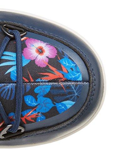 Moon Boot , Damen Schnürhalbschuhe Blu Navy/Rosa