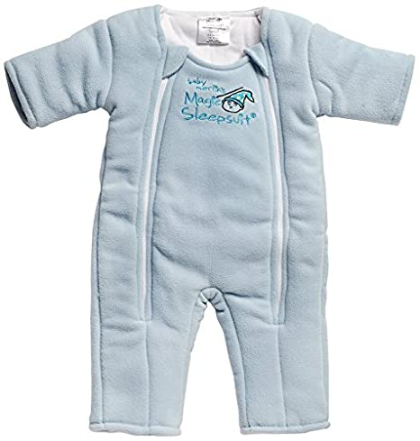 Baby Merlin's Magic Sleepsuit   Swaddle Transition Product   Microfleece   Blue   3 6 Months by Baby Merlin's Magic Sleepsuit