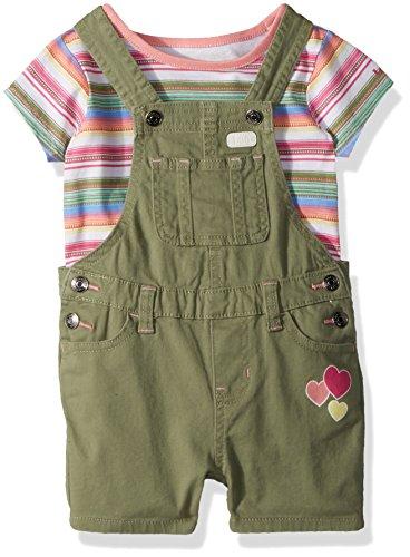 Girls Toddler Green (LEE Toddler Girls' 2PC Shortall, Olive Green, 4T)