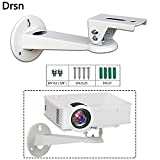 Drsn Mini Projector Wall Mount Mini Wall Mount CCTV DVR Camera Mount Projector Hanger with Load 7.7 lbs Length 7.8 inch Mounting Screw 1/4 inch Rotation 360° White for Mini Projector Canera Camcorder