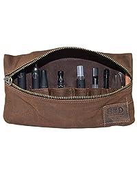Kit de accesorios de lona encerada para vaporizador, ajuste seguro, almacenamiento de cables, bolsa de viaje suave hecha a mano por Hide & Drink: Honey Bourbon