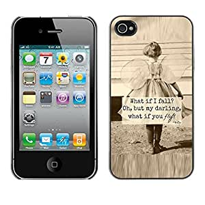 Plastic Shell Protective Case Cover || Apple iPhone 4 / 4S || Sepia Mother Love Inspiring @XPTECH