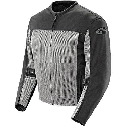 Joe Rocket Velocity Men's Textile Street Racing Motorcycle Jacket - Grey/Black/Medium