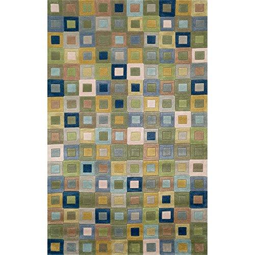 Liora Manne Amalfi Square Rug, 5-Feet by 7-Feet 6-Inch, Ocean ()