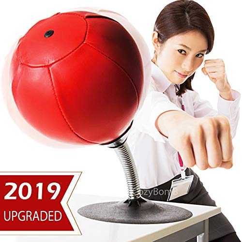 - CozyBomB Free Standing Desktop Punching Bag Stress Buster Relief with Stand - Desk Table Boxing Punch Ball with Suction Cup to Reflex Strain and Tension Toys for Boys Father Kids Office Co-Worker