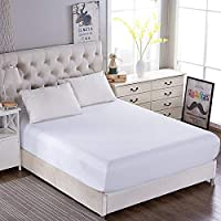Fitted Bed Sheet ONLY【White】Mattress Cover Sheet 1000TC Ultra Soft Touch Microfiber Wrinkle & Stain Resistant sheet in…