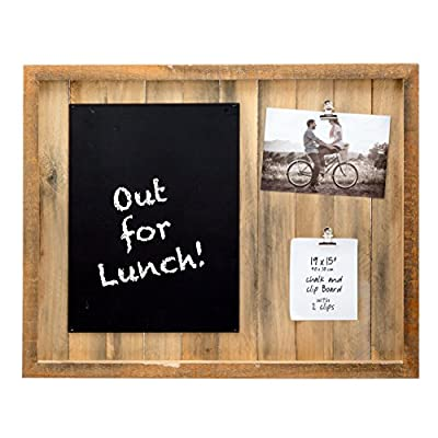 PRINZ 19.5 X 1.5 X 15.5 Inch Sullivan Pallet Natural Wood Collage with 2 Photo Clips & Chalkboard - Natural Wood Frame with Hand distressed finish Features chalkboard With 2 photo clips - picture-frames, bedroom-decor, bedroom - 51Evaa 8fLL. SS400  -