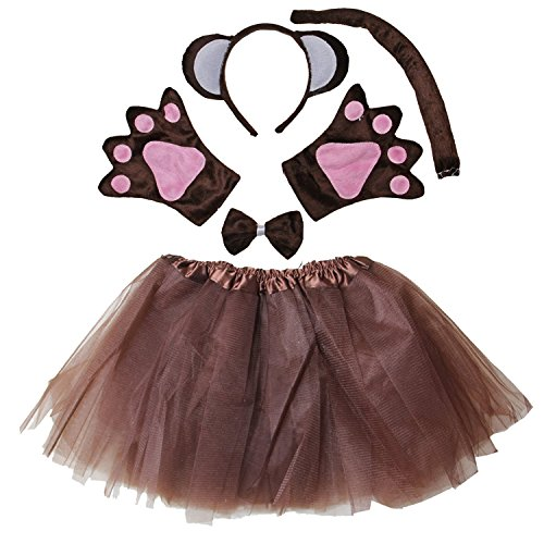 [Kirei Sui Kids Monkey Costume Tutu Set Brown] (Child Monkey Costumes)