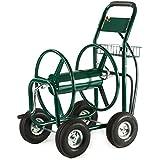 XtremepowerUS Garden Water Hose Reel Cart 300 FT Outdoor Heavy Duty Yard Water Planting