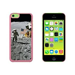 Astronaut Moon Landing - American Flag Snap On Hard Protective For SamSung Galaxy S5 Mini Phone Case Cover - Pink