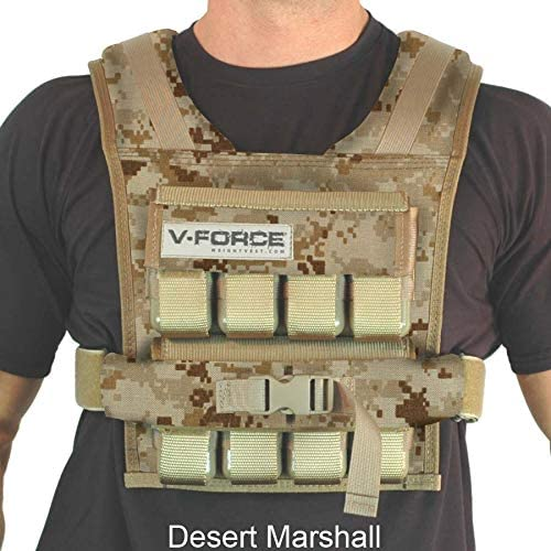 V-Force 40 lb Weight Vest – Made in USA – Full Camouflage