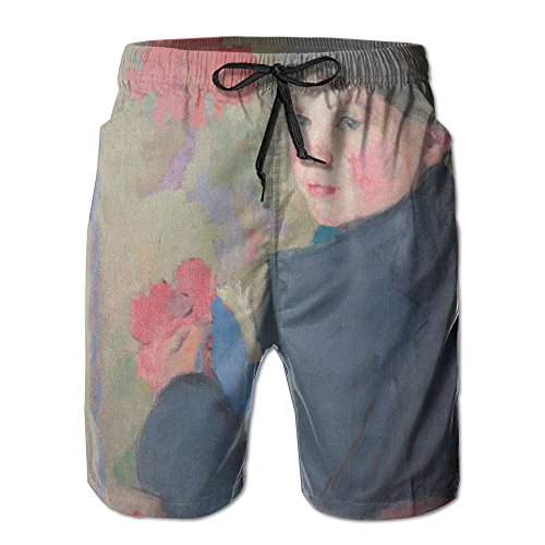 Men's Edith Collier - Little Schoolboy Of Bonmahon Quick Drying Breathable Swim Trunks X-Large (Painting Oil Rousseau)