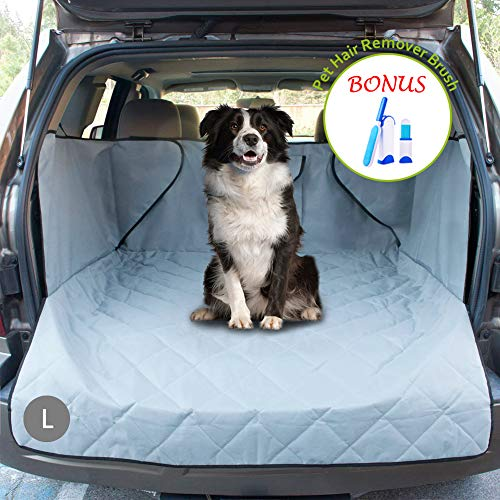 (upra Trunk Cargo Liner Covers for Dogs, Quilted Waterproof Oxford Pet Cargo Seat Cover/Car Floor Mat, Machine Washable & Nonslip Backing with Flaps Protection, Universal Fit for All Vehicles (Large))