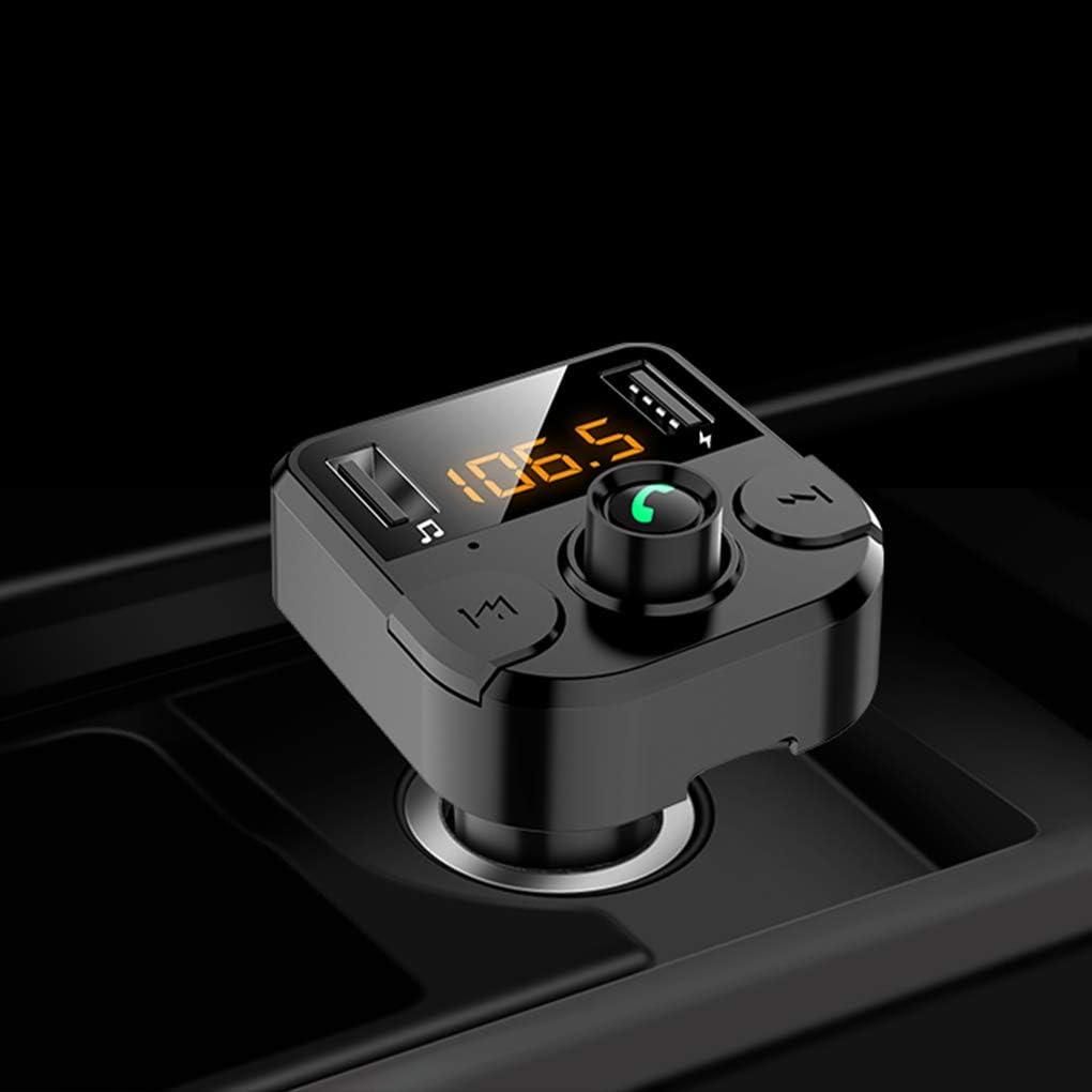 censhaorme Voiture Double USB Chargeur Bluetooth 5.0 /écran LED Noise Cancelling Lecteur MP3 Kit Mains Libres pour Voiture Transmetteur FM