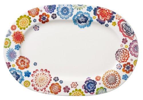 VILLEROY & BOCH Anmut Bloom Oval platter