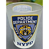 Nypd city of new york police department frosted shot glass