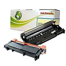 Ink4work© DR630 Drum & TN660 (TN-660) High Yield Compatible Toner Cartridge Combo Fits Brother HL-L2300D, HL-L2320D, HL-L2340DW, HL-L2360DW, HL-L2380DW, MFC-L2700DW, MFC-L2720DW, MFC-L2740DW, DCP-L2520DW, DCP-L2540DW (DR630 Drum + TN660 Black Toner)