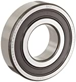 6302 bearing - SKF 6302 2RSJEM Medium Series Deep Groove Ball Bearing, Deep Groove Design, ABEC 1 Precision, Double Sealed, Contact, Steel Cage, C3 Clearance, 15mm Bore, 42mm OD, 13mm Width, 1210lbf Static Load Capacity, 2560lbf Dynamic Load Capacity