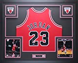 Michael Jordan Autographed Red Bulls Jersey - Beautifully Matted and Framed - Hand Signed By Michael Jordan and Certified Authentic by Upper Deck COA - Includes Certificate of Authenticity