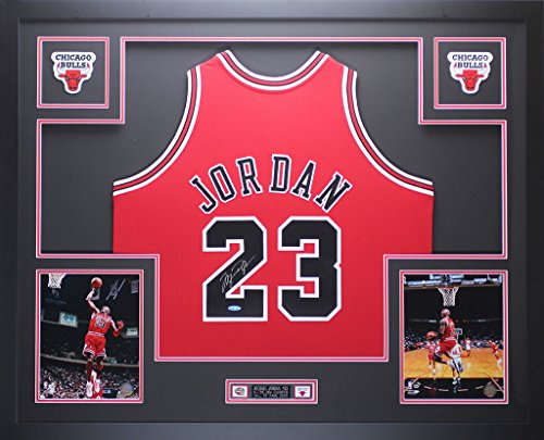 Michael Jordan Autographed Red Bulls Jersey - Beautifully Matted and Framed - Hand Signed By Michael Jordan and Certified Authentic by Upper Deck COA - Includes Certificate of - Jersey Michael Authentic Jordan