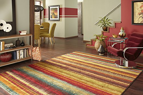 Brown Striped Rug - Mohawk Home New Wave Boho Stripe Printed Area Rug,  5'x8',  Multicolor