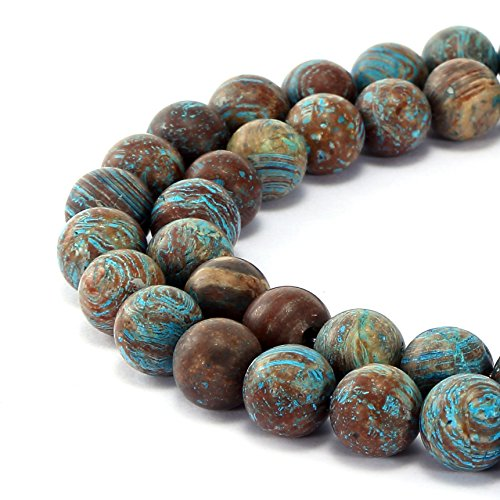 BRCbeads Gorgeous Natural Crazy Blue Lace Agate Gemstone Smooth Matte Round Loose Beads 4mm Approxi 15.5 inch 88pcs 1 Strand per Bag for Jewelry ()