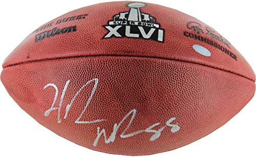 Hakeem Nicks Signed Super Bowl XLVI Football - Steiner Sports Certified - Autographed Footballs