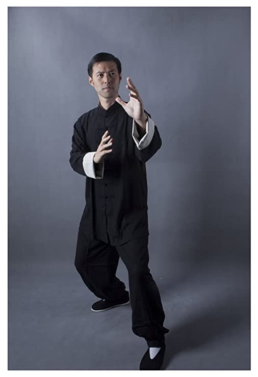 3f296a7b7 Amazon.com : Orient Impress Unisex's Cotton Linen tai chi clothing Kung Fu  and Meditation uniform Black and Dark Blue : Sports & Outdoors