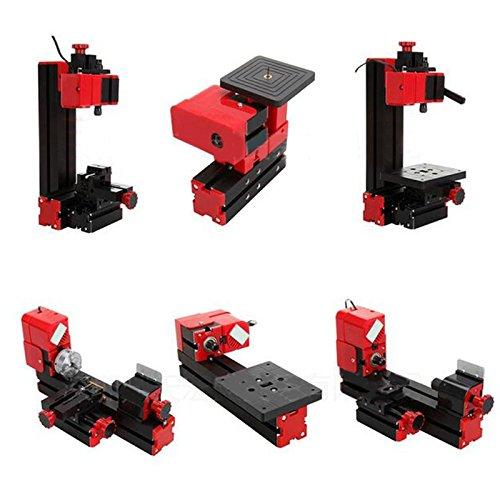 6 in 1 Metal Mini Multipurpose Machine DIY Power Tool Lathe Drilling Milling Kit by Vinmax