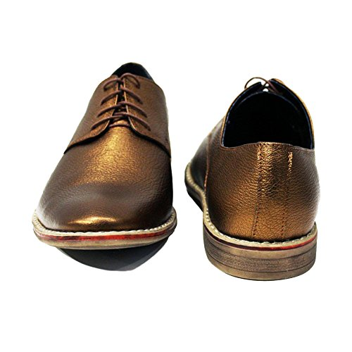 Modello Triest - Handmade Colorful italiennes Chaussures en cuir Oxfords Casual Souliers de Formal Prime Unique Vintage Gift Lace Up Robe Hommes
