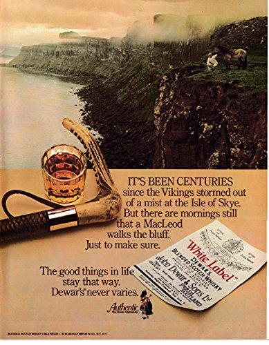 Isle Of Skye Scotch - 1980 Dewar's Isle Of Skye Scotland Scotch Whiskey -Original 13 * 10 Magazine Ad