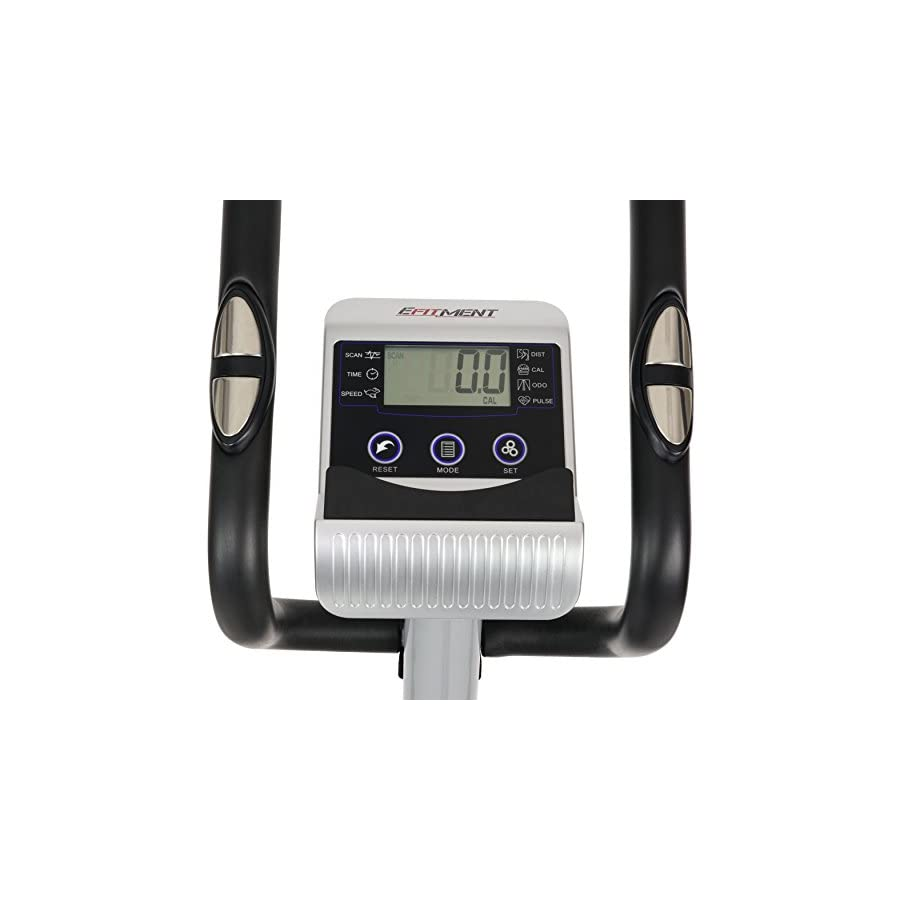 EFITMENT Compact Magnetic Elliptical Machine Trainer with LCD Monitor and Pulse Rate Grips E005