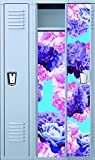 (US) Vinyl Locker Wallpaper- 4 Pre-Cut Full Length Panels with strong magnetic hold: Peony Chic: Violet