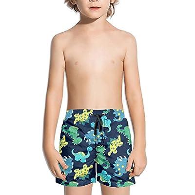 Voslin Kids Unisex 3D Dinosaur Light Beach Swim Trunks Quick Drying Drawstring Shorts