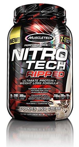 MuscleTech Nitro Tech déchiré série Performance, biscuits et crème, livre 2