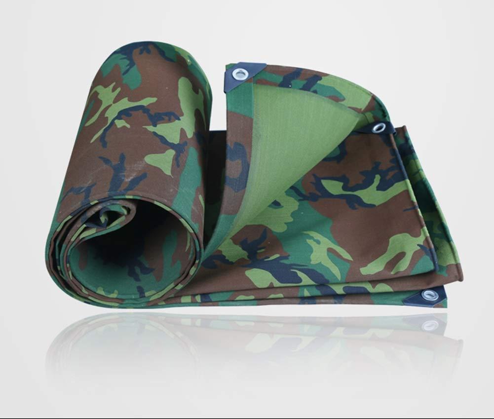FSBFF Militärplane Verdicken Regenschutztuch, wasserdicht Sonnenschutzplane Vordach Öldachzelt Regenschutz
