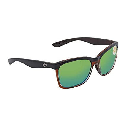 3b78dc5c16fe Amazon.com  Costa Del Mar Anaa Sunglasses Shiny Black on Brown Green Mirror  580 Plastic  Sports   Outdoors