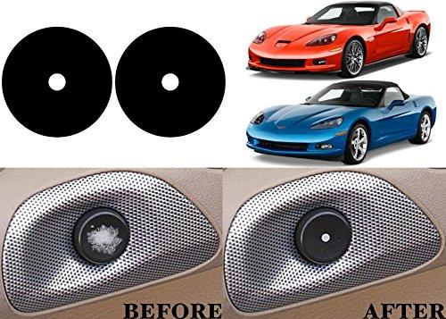 - Alpha Replacement Interior Door Button Stickers For 2005-2013 Chevrolet Corvette