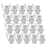 VERENIX 20pcs Useful Brand Daily Necessities Stainless Steel Curtain Hook Clip clamps Portable Convenient