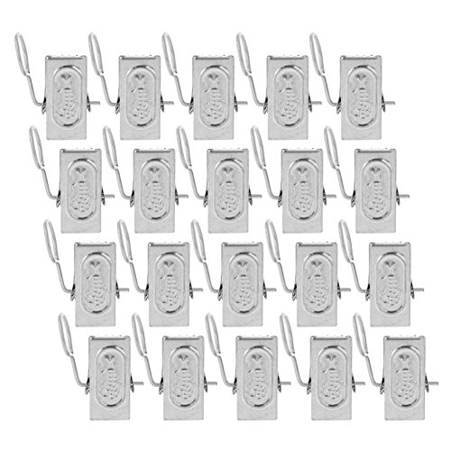 VERENIX 20pcs Useful Brand Daily Necessities Stainless Steel Curtain Hook Clip clamps Portable Convenient by VERENIX
