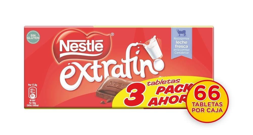 Nestlé - Chocolate con Leche Extrafino - Pack de 3 x 125 g: Amazon.es: Alimentación y bebidas