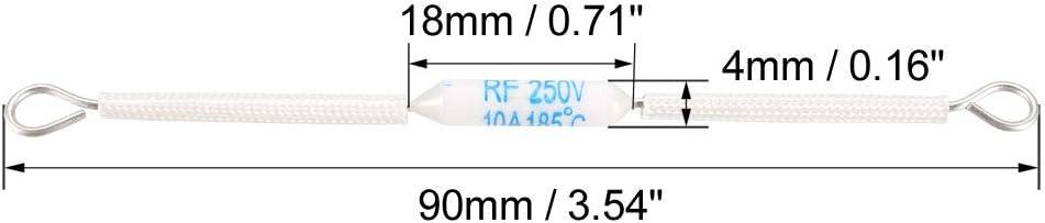 uxcell 250V 20A 185 Celsius Circuit Cut-off Temperature Thermal Fuse Ceramics 2Pcs